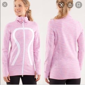 GUC Lululemon In stride jacket pink space - size 6